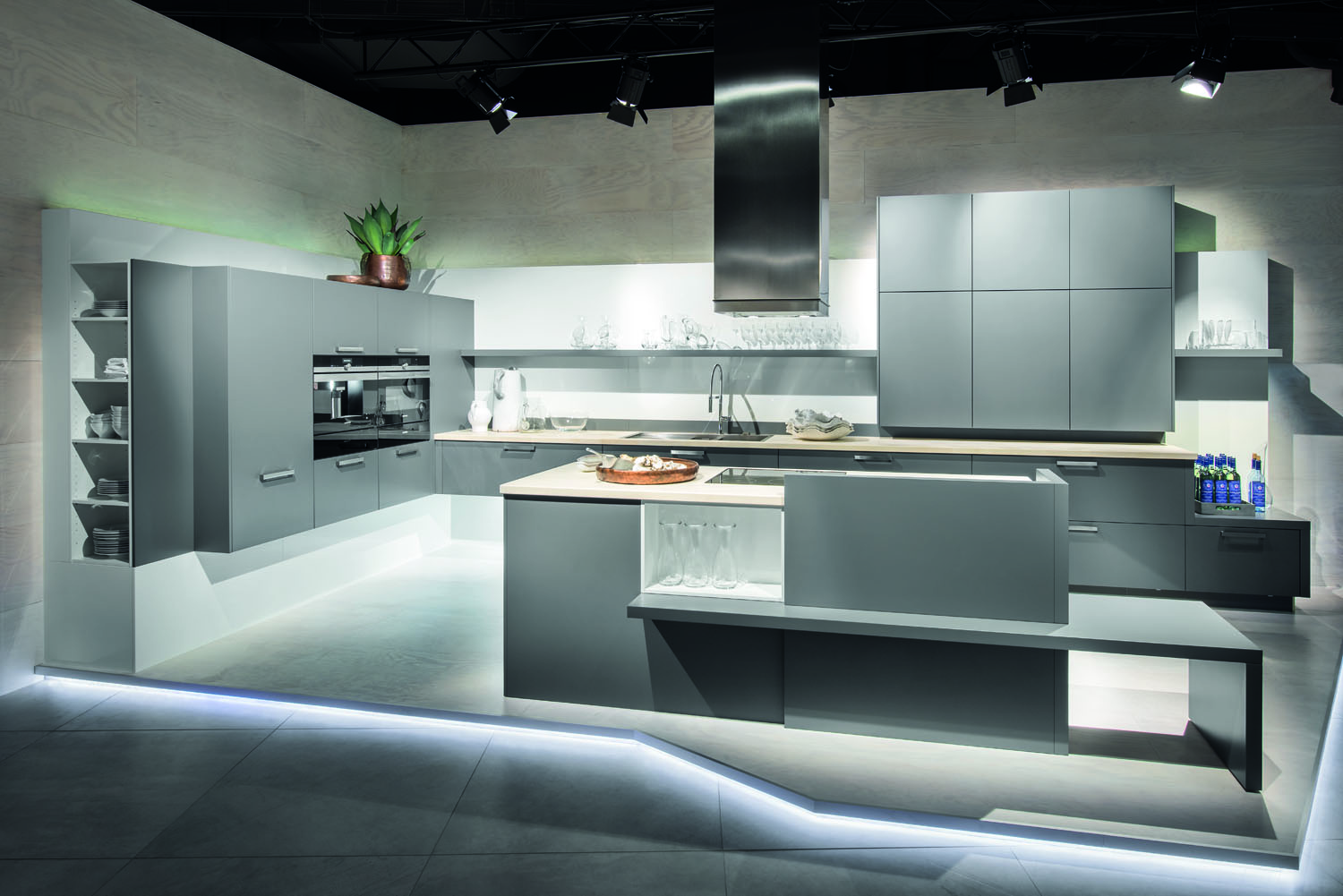 Grey kitchen modern kitchen london by lwk kitchens london - Matt Satin Lacquer Lava Grey Kitchens From Lwk Kitchens German Kitchen Supplier